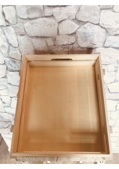 Cassettina in legno di abete (35 x 27 x 7,5)
